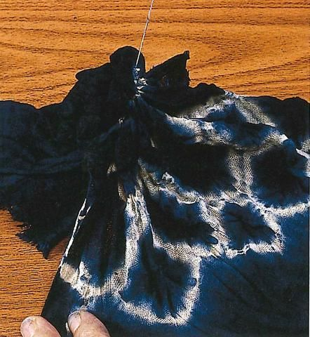 """The word Shibori comes from the Japanese verb root """"shiboru,"""" meaning """"to wring, squeeze, press."""""""