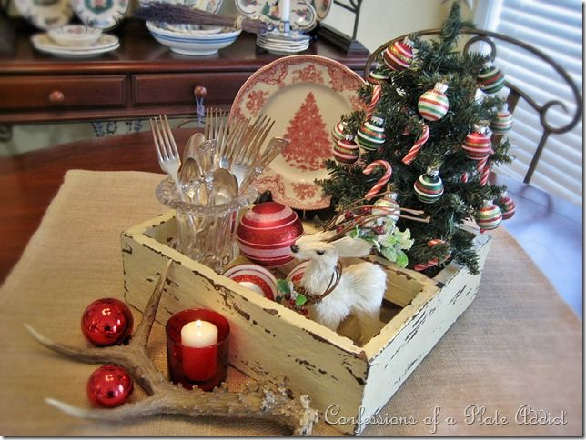 Rustic centerpiece home for christmas pinterest