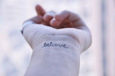 6 Awesome infinity believe tattoos on wrist images