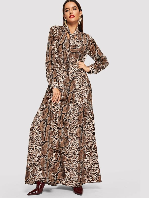 Image result for shein snakeskin maxi dress