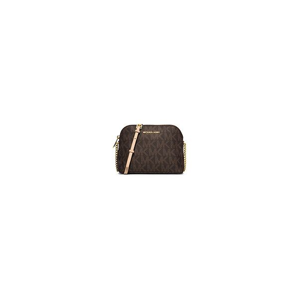 Crossbody Purses & Crossbody Wallets | Michael Kors ❤ liked on Polyvore featuring bags, wallets, brown bag, brown crossbody, michael kors wallet, michael kors and michael kors crossbody