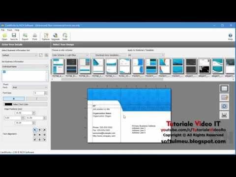 Cum faci carti de vizita gratuit cu programul CardWorks   Tutoriale Video