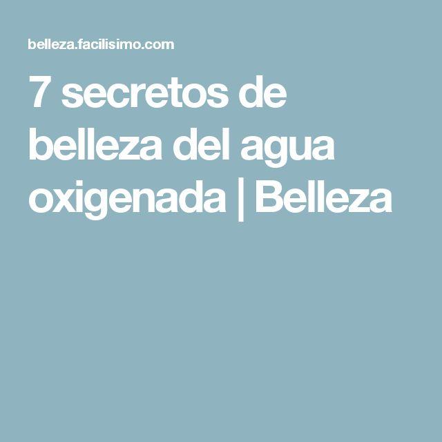 7 secretos de belleza del agua oxigenada | Belleza