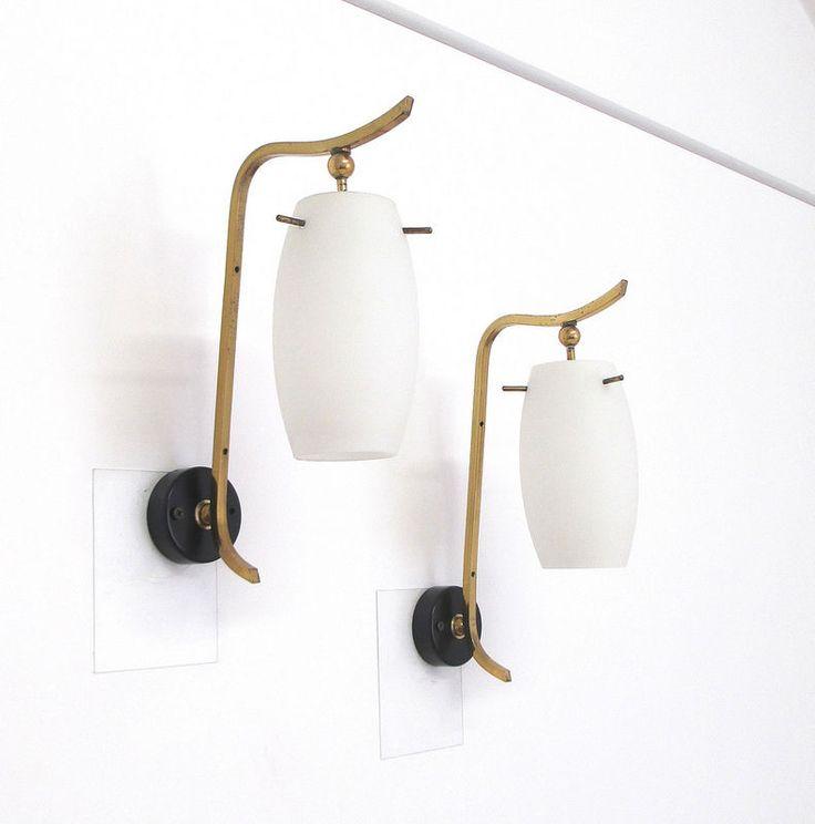 pair sconce lamp mid century 50s