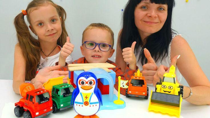 Детские Игрушки Машинки для детей – трактор, экскаватор, подъемный кран ...