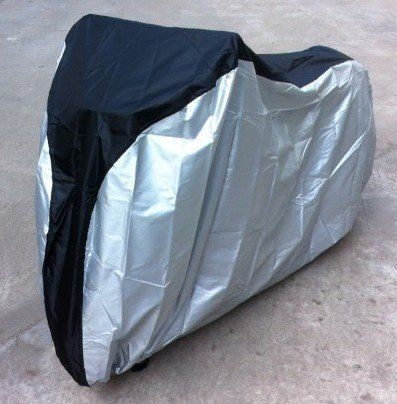 Silver & Black 190T nylon waterproof bike / bicycle cover/ Bike Covers for Rain / Sport Bike Cover /Bicycle Cover Waterproof Outdoor (size: LL) - http://www.exercisejoy.com/silver-black-190t-nylon-waterproof-bike-bicycle-cover-bike-covers-for-rain-sport-bike-cover-bicycle-cover-waterproof-outdoor-size-ll/cycling/