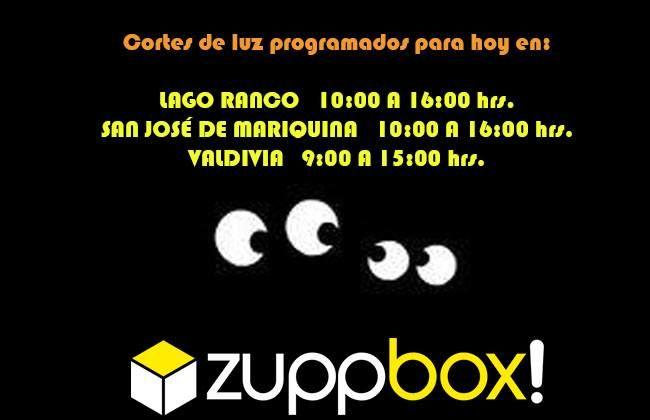 Corte de luz programado para el Jueves 12 de Septiembre: Valdivia, Lago Ranco y San José de la Mariquina.