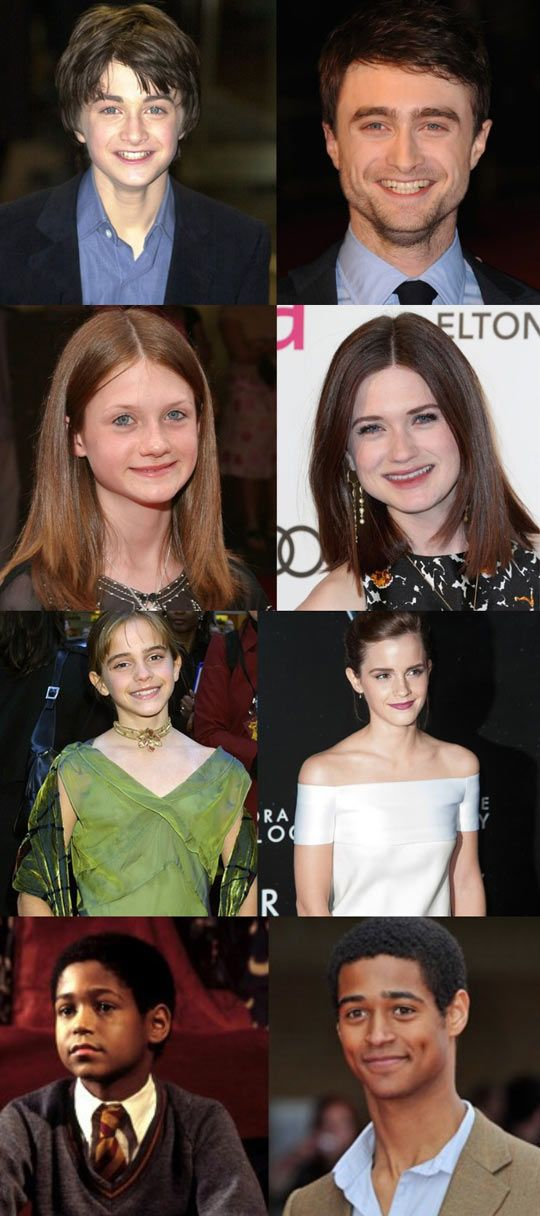 Harry Potter actors: then and now