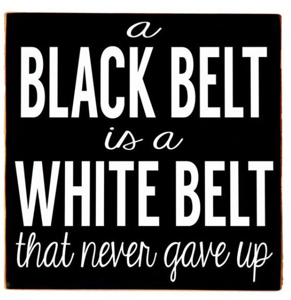 Never give up -karate
