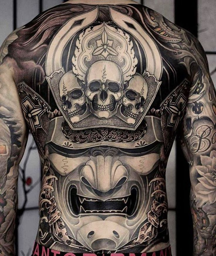 Japanese Tattoo Wallpaper: This Piece By @kostas_tzikalagias Is Badass!!! Click The