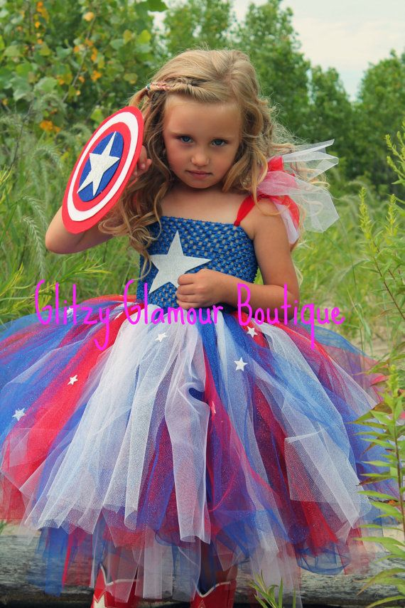 Captain America Halloween Tutu Dress on Etsy, $80.00