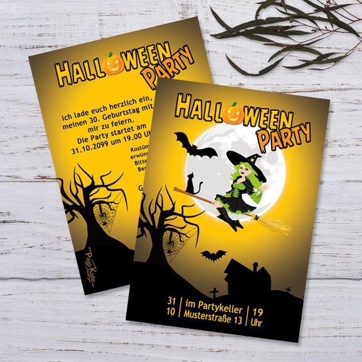 Einladung Halloween Party Partyflyer