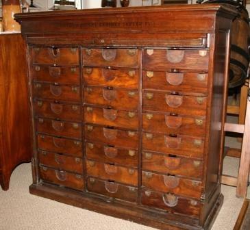 antique file cabinet