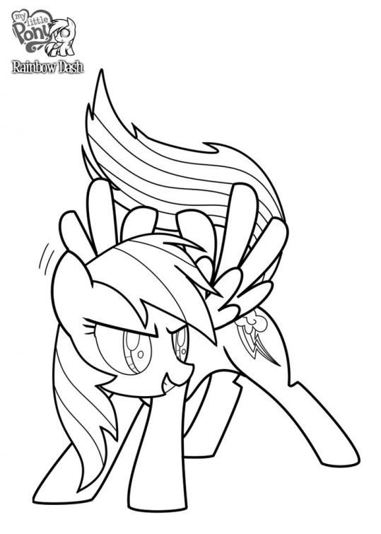 The Competitive Pony Rainbow Dash Coloring Page
