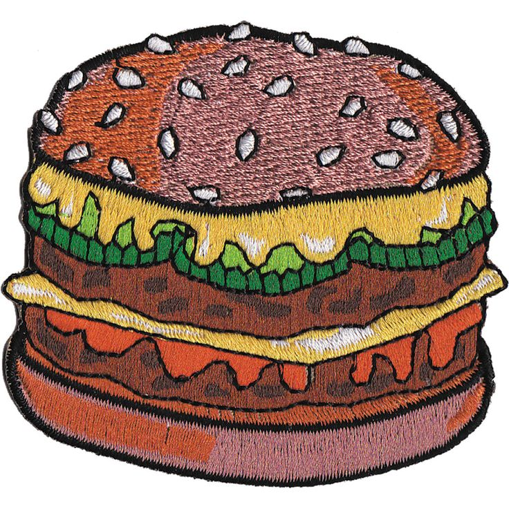C&d Visionary® IronOn Applique Patch, Burger Michaels