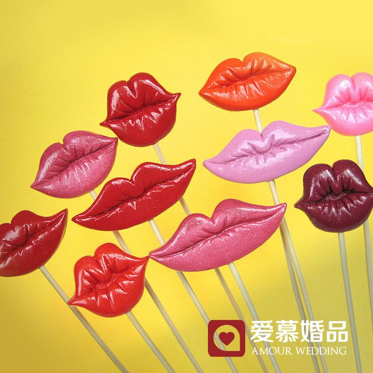 4 Colors in one set Wedding Supplies Funny Lips Style Party Photo Booth Props Photography mask HZ10 US $13.88
