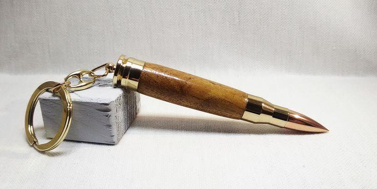 Portachiavi - Portachiavi a pallottola  in legno di olmo  - un prodotto unico di Regali-Artigianali-Da-Devis su DaWanda