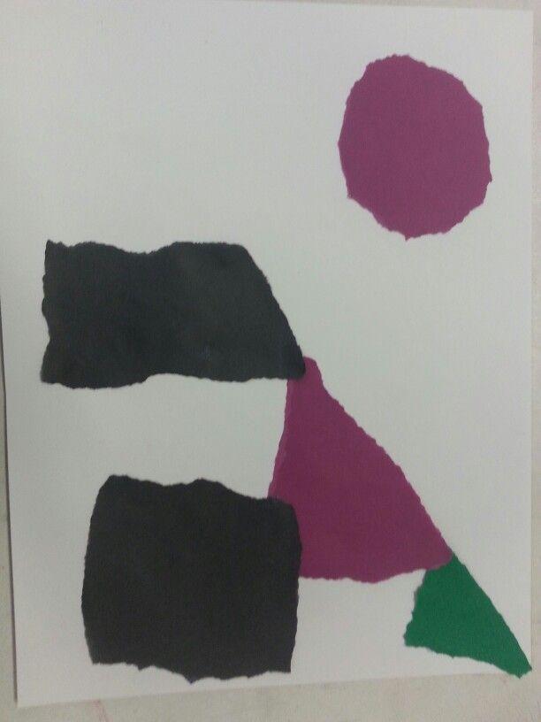 Ik vind het een mooie compositie omdat het mooie kleuren zijn