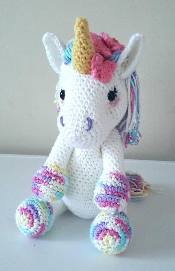 Faça este adorável unicórnio hoje! padrões de crochê unicórnio - crochet padrão pdf ...