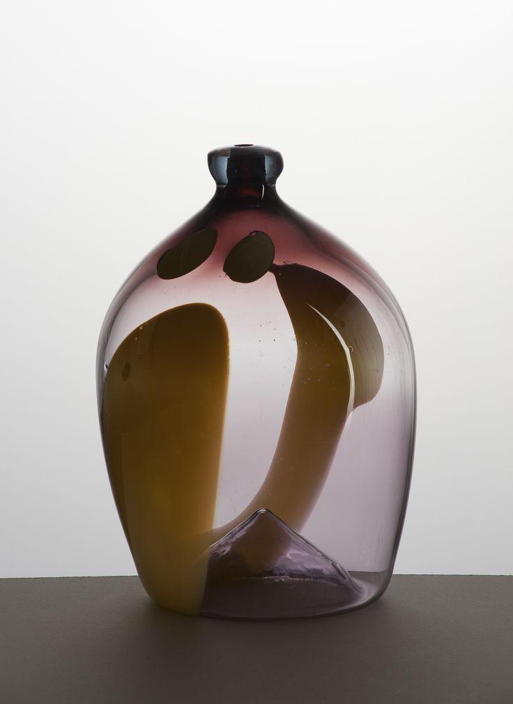 Lubomir Blecha, glass vase, glassworks Skrdlovice, 1960, H: 36,0 cm