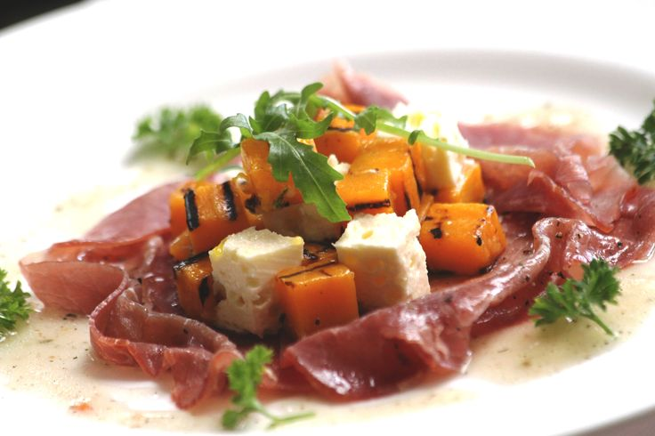 Feta butternut and smoked beef with black pepper vinaigrette