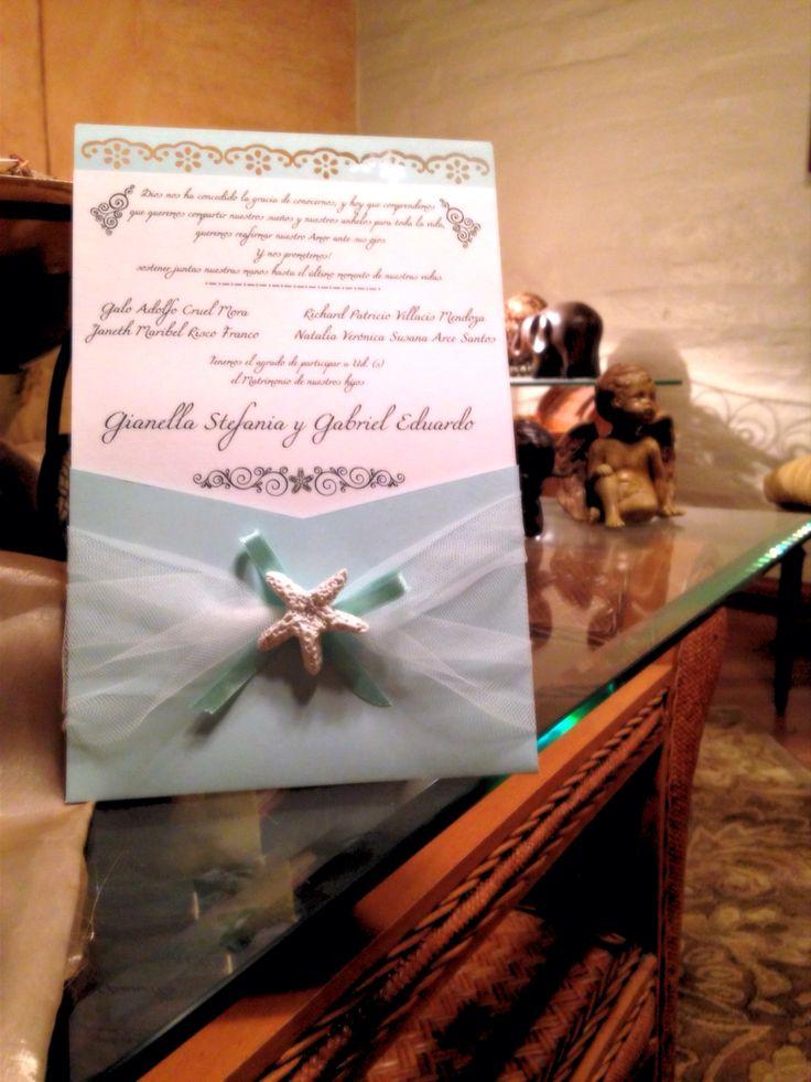 Wedding invitations... Beach themed