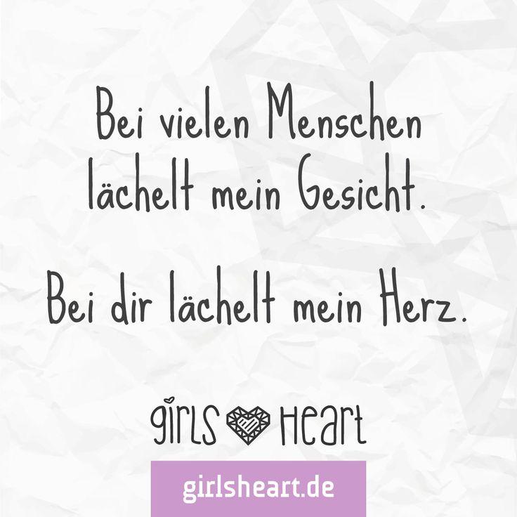 Mehr Sprüche auf: www.girlsheart.de  #menschen #lächeln #herz #gesicht #partner #freundinnen #freundin #freunde