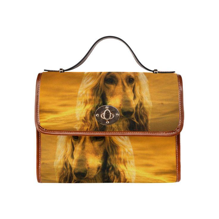 Dog Afghan Hound Waterproof Canvas Bag/All Over Print (Model 1641)