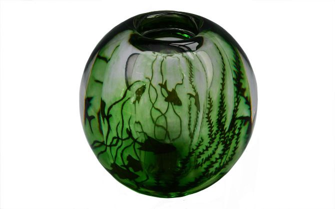 Orrefors Grail fish vase: This imaginative and skillful piece is one of my favourite items to gaze upon.  (by Edvard Hald, Sweden c. 1950)
