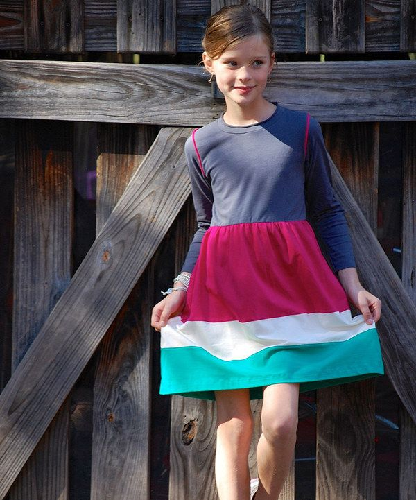 Look at this Gray & Pink Color Block Swing Dress - Toddler & Girls on #zulily today!