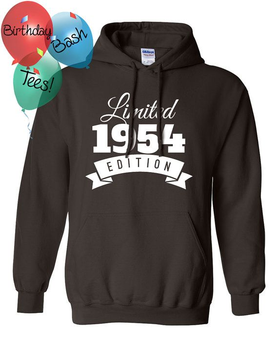 1954 Birthday Hoodie 62 Limited Edition by BirthdayBashTees