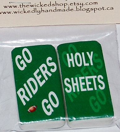 Magnets  CFL  FOOTBALL Saskatchewan Roughriders by TheWickedShop, $5.50