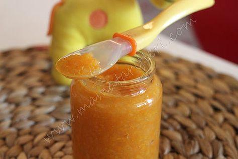 6 aylık bebekler için ek gıda elma ve havuç püresi