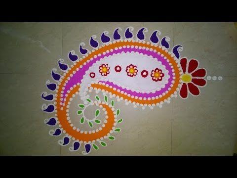 Freehand Rangoli Design (NEW) - YouTube