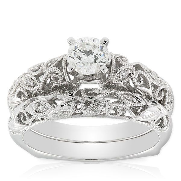 Ikuma Canadian Diamond Bridal Set 14K :: Ben Bridge Jeweler