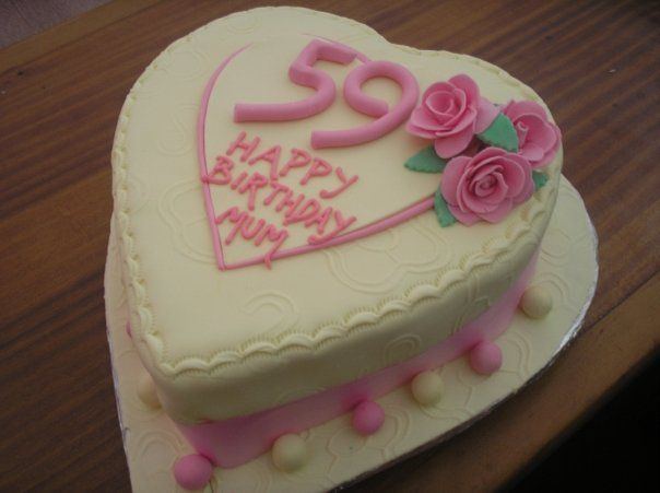 Heart shaped cake for mum sp033 cake decorating ideas - How to decorate a heart cake ...