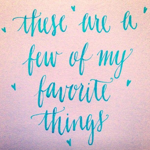 Handwritten Sound of Music quote