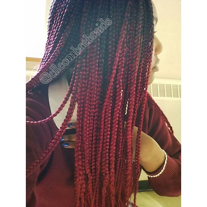 Ombre Braiding Hair Colored Box Braids