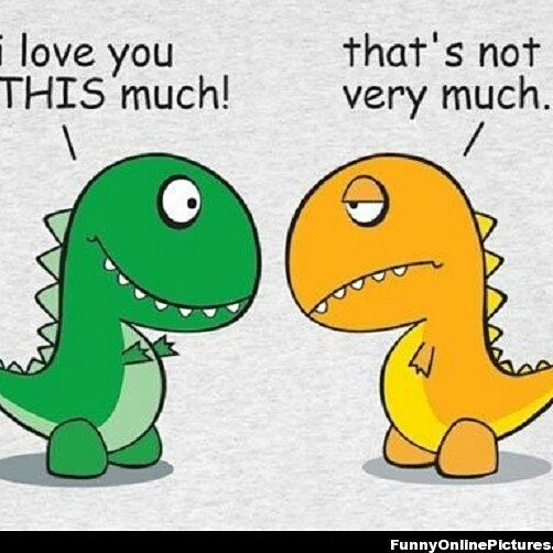 """..... #Love #cute #dinosaur #memes #dinolove #green #yellow #iloveyouthismuch #thatsnotalot #lol #haha"" Photo taken by @prettyg817area on Instagram, pinned via the InstaPin iOS App! http://www.instapinapp.com (08/21/2015)"