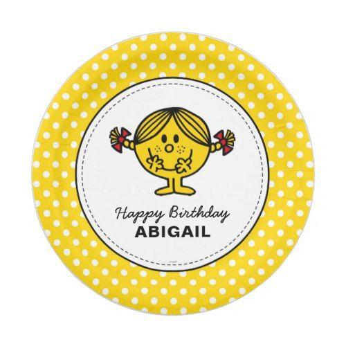 Little Miss Sunshine | Yellow Birthday Paper Plate