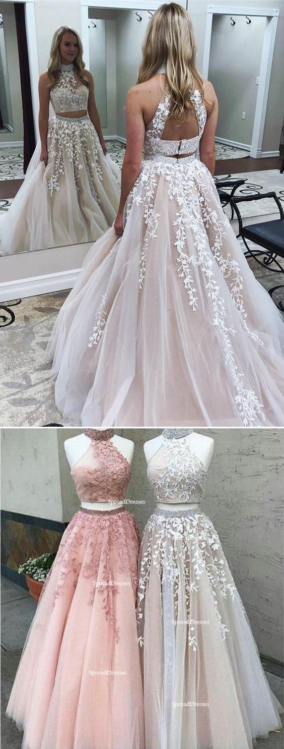 2018 Newest two-pieces floor-length sleeveless high-neck evening gown, Dignified elegant Long Prom Dresses, PD0466 2018 Newest two-pieces floor-length sleeveless high-neck evening gown, Dignified elegant Long Prom Dresses, PD0466 2