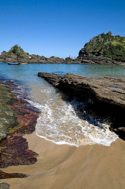 Praia da Ferradurinha, em Armação dos Búzios, estado do Rio de Janeiro, Brasil.  Fotografia: Quasebart.