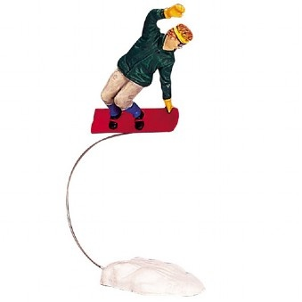 Lemax Vail Village Figurine: Radical Snowboarder #32772 $3