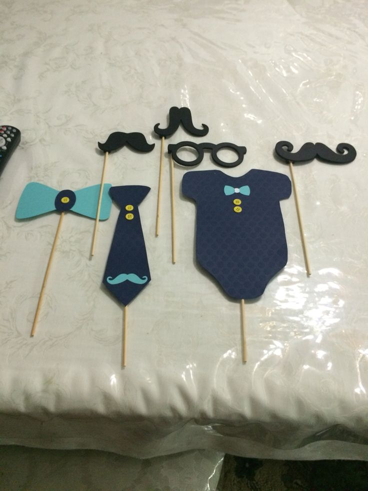 When you make your own baby shower props. Little gentleman on his way.