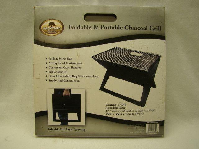 Backyard Classic Foldible/Portable Charcoal Grill Camping