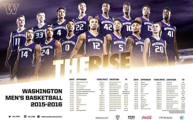 2015-2016 Washington Huskies Basketball on Behance
