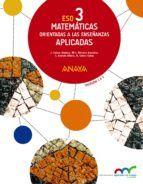 matemáticas orientadas a las enseñanzas aplicadas 3º eso mec-9788467852165