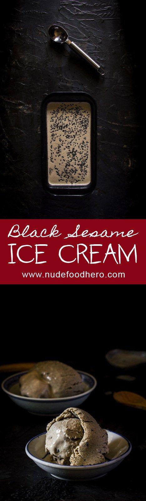 ... black and orange take away truffles black sesame and orange ice cream