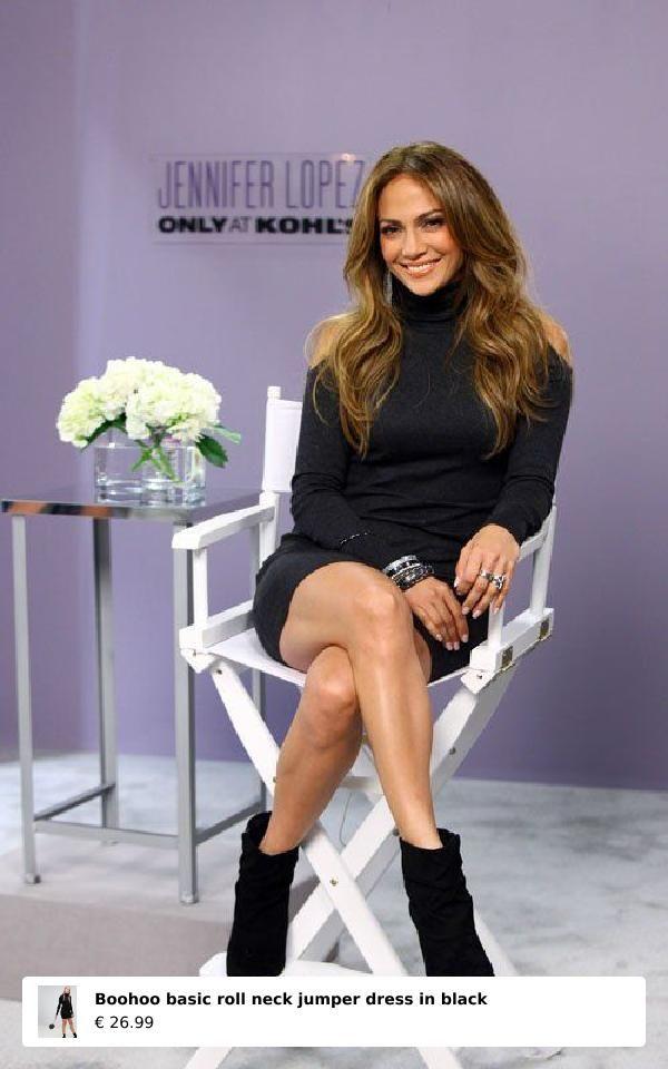 meet adbd1 e041f Jennifer Lopez looking suoer beautiful wearing a little Black Dress and  Boots Buty Za Kostkę,