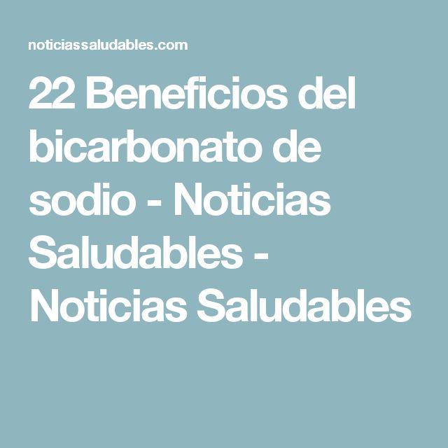 22 Beneficios del bicarbonato de sodio - Noticias Saludables - Noticias Saludables